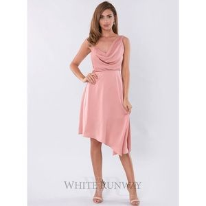 NWT KEEPSAKE SIDELINES BLUSH PINK MIDI DRESS
